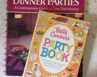 Vintage Betty Crocker Party Cookbook Set 1960 & 70 First Editions