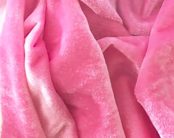 VALENTINE Sale 20%OFF Baby Pink Velvet Fabric Dress Stretch velvet Commercial Curtain Fabric Fashion Velvet Upholstery Decorative Fabric