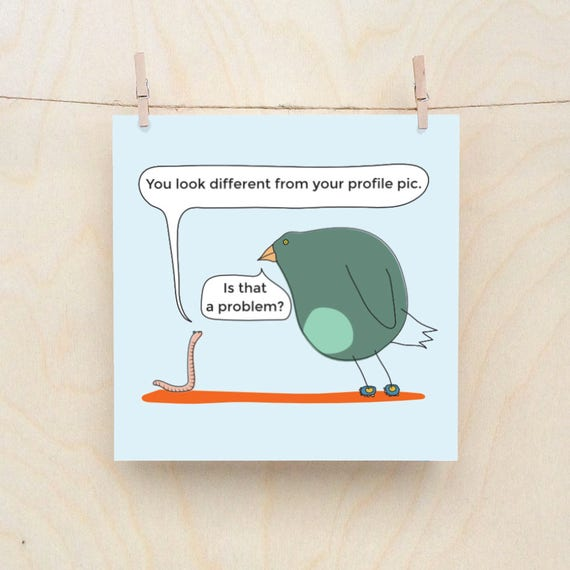 Funny Greetings card, Funny Love card, Funny Bird card, Funny worm card, Bird and Worm no.1