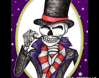 DAPPER CADAVER //  Skeleton Gent Holiday Cards
