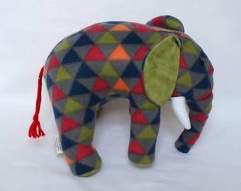 Green Plush Elephant -  handmade elephant toy - elephant toys - soft elephant - stuffed animal - stuffed toy - holiday toys