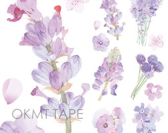 Purple flowers washi tape