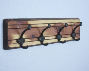 Wall Coat Rack, READY TO SHIP # 3  Coat Rack, Wall Coat Rack, Entryway Coat Rack, Cedar Coat Rack, Coat Racks,