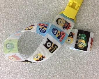Minions themed grosgrain ribbon dummy clip