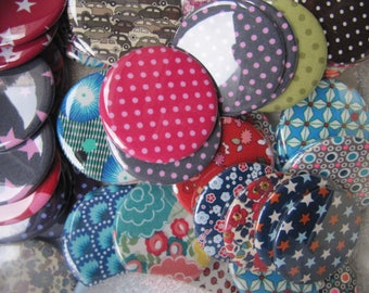 Pocket mirror set of 5 fabric 5.6 cm