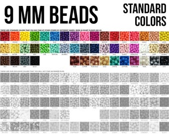 10-1,000 - 9 mm Silicone Beads - Seamless Silicone Beads - Standard Colors