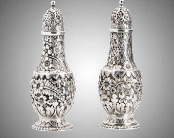 2 Tiffany & Co repousee shakers circa 1890