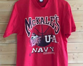 Vintage University of Arizona Shirt // Vintage McKale's Navy Shirt // Vintage Wildcats Shirt