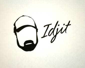 Bobby Singer Supernatural Idjit Decal