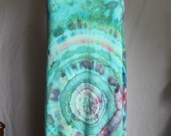 Tie dye Maxi skirt ice dye boho festival wedding fashion - Small - Cotton Candy mega eye - READ item details before buying