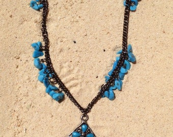 The Iliad blue necklace / collar the Iliad