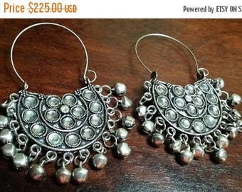 Holiday SALE 85 % OFF White Quartz  Hoop  Sterling silver Earrings Gemstone  .925