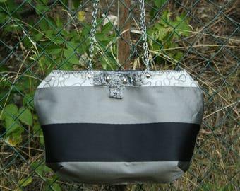 purse - evening - smart event - silver grey