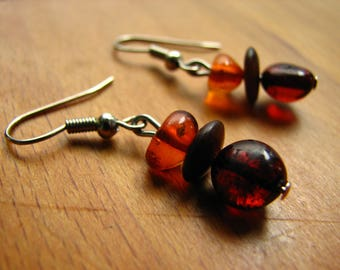 3599 -  Earrings  Amber