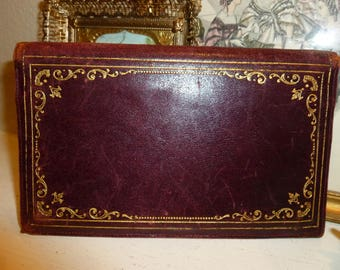 Vintage Seriously Time Worn Italian Wallet With Gold Accents 1940's-1950's