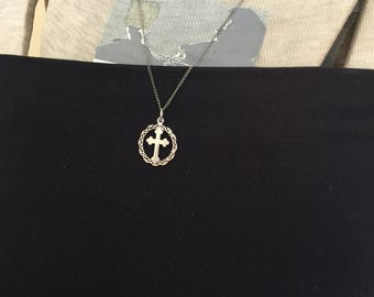 Sterling Silver Cross Pendant and Chain