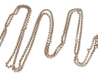 A Victorian Longaurd Chain, 9k gold, Hallmarked