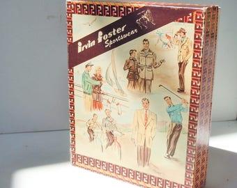 Shirt Box / Vintage  Box / Closet relic from Irwin Foster Sportswear / Authentic Original Cardboard Box