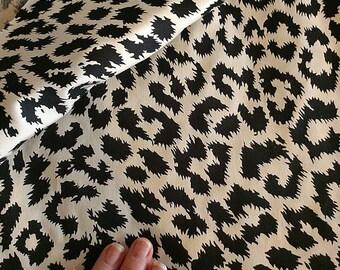 Cheetah print stretch cotton