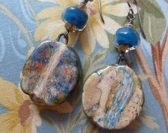 In The Woods, Whimsical Ceramic Earrings, Annie French Earrings, Wearable Art Earrings, magdalenaruiz, KiyoiDesign,  Northernblooms