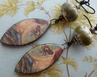 The Little Mermaid, Mermaid Earrings, Mermaid Charms, Wearable Art, Elenore Plaisted Abbott, Northernblooms, NaOsGlass, LindsayDrakeBeads