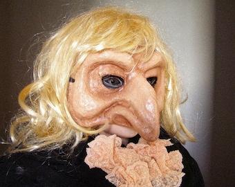 Masquerade mask Pantalone mask Scary mask Halloween mask Paper mache mask Theatre mask