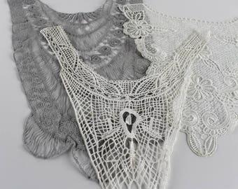Collection of Lace Bib Fronts Decorative Lace Appliques