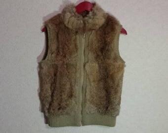 Brown Vest,warm Vest,Sweater Vest,Female cardigan,~Medium Size