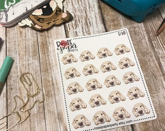 Sleeping Lab Planner Stickers Two Colors / removable matte vinyl (D10 and D11)