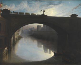 Waller Hugh Paton: Railway Bridge over the River Cart, Paisley. Fine Art Print/Poster. (004310)