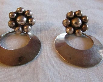 Vintage Sterling Silver Post Earrings from Mexico