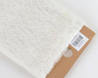 54in. 10yards bolt lace ivory fabric