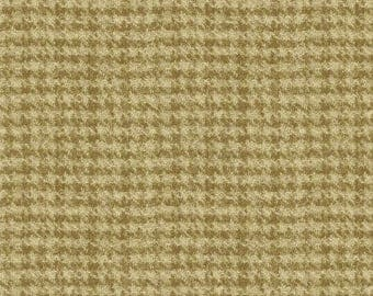 Medium Tan Houndstooth Flannel Fabric-Woolies Flannel-Maywood-Thick Cotton Flannel-Rustic Flannel-Tartan-Cabin Fabric-Houndstooth Flannel
