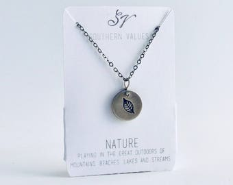 Southern Values Nature Necklace / Silver / Charm Necklace