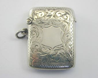 1905 silver Vesta case 25.3g 49.5mm by 37.65mm Antique