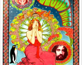 Fleetwood Mac 1976 Concert Poster - Ships FREE