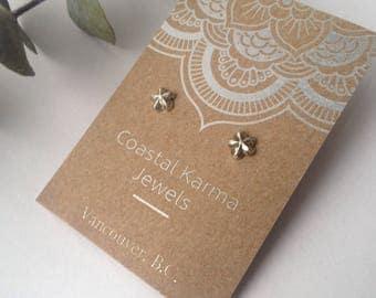 Eco Celestial North Star Stud Earrings || Boho Earrings, Minimalist, Fine Silver, Upcycled, Hand Forged, Handmade Celestial Earrings