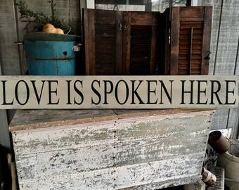 Love Is Spoken Here, Love Spoken, Love Here, Word Art, Wall Art,
