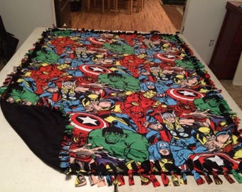 Marvel comic pack fleece blanket