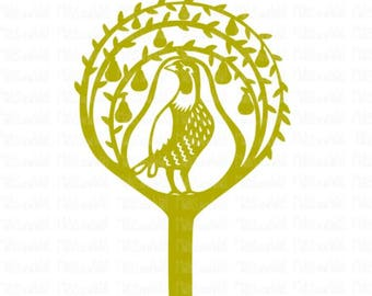 Partridge in a pear tree svg/png/dxf cricut/silhouette digital cutting file/Christmas svg/partridge svg/pear tree svg/holiday/Christmas/HTV