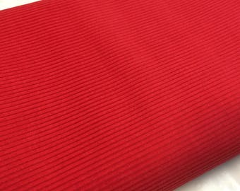 SALE - Red 8 Wale Corduroy 5ft Wide