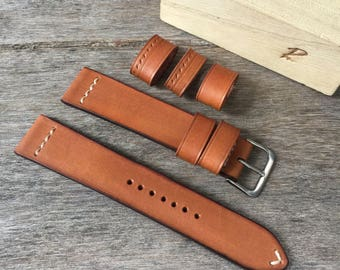 Handmade genuine leather strap 20/18mm.