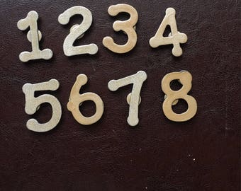 Address numbers wooden