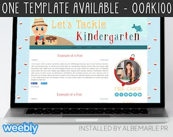 OOAK100 Template for Weebly - Classroom Weebly Template, Nautical Theme Template