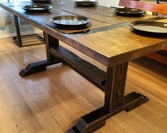 Industrial Farm House Dining Table.