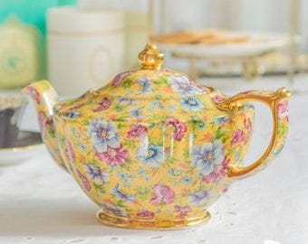 SUMMER SALE Sadler Sophie Chintz Full Size Teapot, Brand New In Box