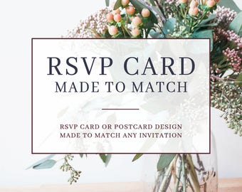 Made to Match - RSVP Card or Postcard - Wedding RSVP Card - Wedding Reply Card - Response Card - PRINTABLE