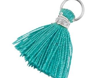 Tassels, tassel-3 pcs.-1.8 cm-Color selectable (color: emerald green)