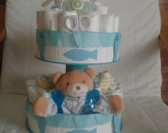 """Petit poisson"" diaper cake to order"