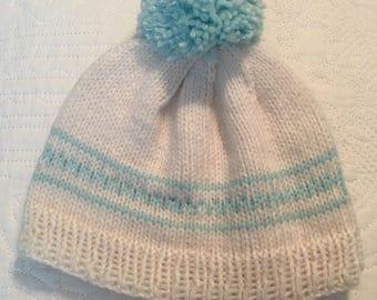 Hand Knit Newborn Beanie